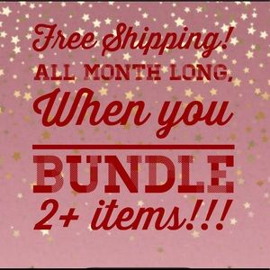 Sale of the month!  Free shipping on bundles!